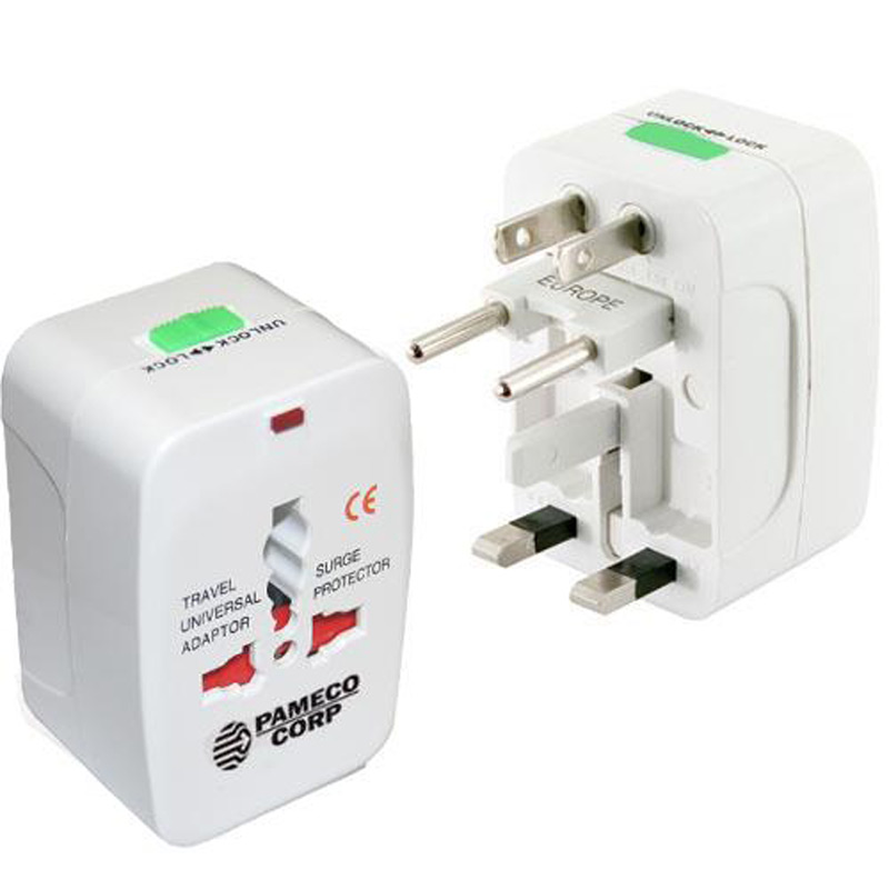 Universal Travel Adaptor Plug with Storage Pouch