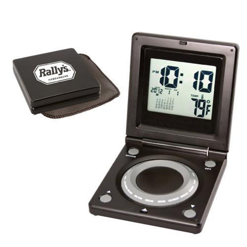 World Time Alarm Clock with Calendar & Thermometer