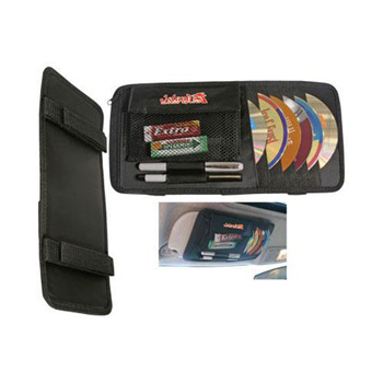 Multipurpose CD/DVD Visor Caddy