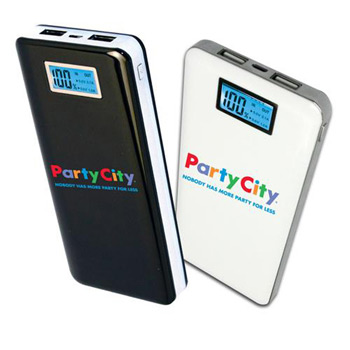 12,000 mAh Slimline Executive USB Power Bank with Digital LCD Display