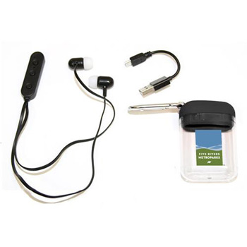 Bluetooth Ear Buds with Case & Carabiner Clip