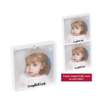 "3""x3"" Acrylic Magnetic Stacking Photo Frame"