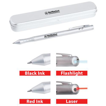4-in-1 Laser/Flashlight Pen