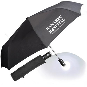 "43"" Auto Open and Close Umbrella Flashlight with Case"