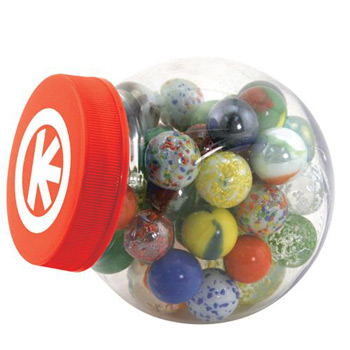 Glass Marbles Game Set with Storage Canister