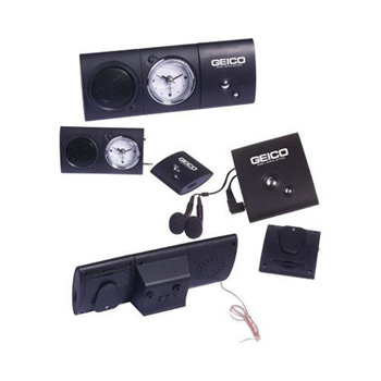 Digital FM Scan Radio with Analog Alarm Clock