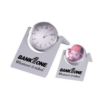 Magnified Sphere Clock with Photo Frame
