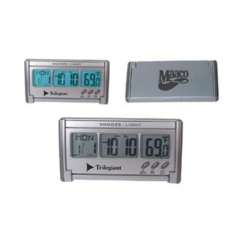 AD-814Jumbo LCD EL-Backlit Travel Alarm Clock