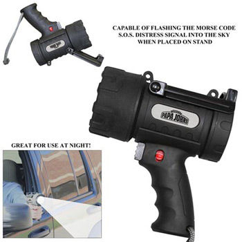 5-Watt LED Pistol Grip Spotlight with Adjustable Stand